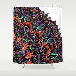 Corner Mandala Shower Curtain
