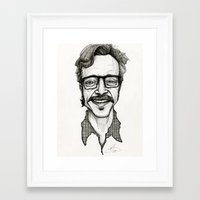 marc allante Framed Art Prints featuring Marc Maron by Simone Bellenoit : Art & Illustration