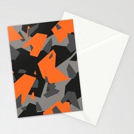 Black\Grey\Orange Geometric camo Stationery Cards