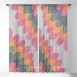 Dahlia at Bungalow Sheer Curtain