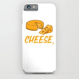 I Just Really Like Cheese, Ok, For Cheese Lover iPhone Case
