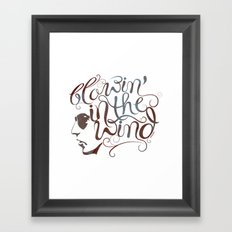 BOB DYLAN, BLOWIN' IN THE WIND Framed Art Print