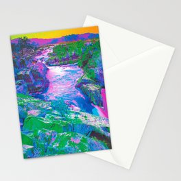 Psychedelic Falls Stationery Cards