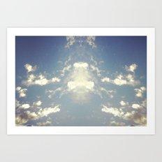 Cloud Blot Art Print