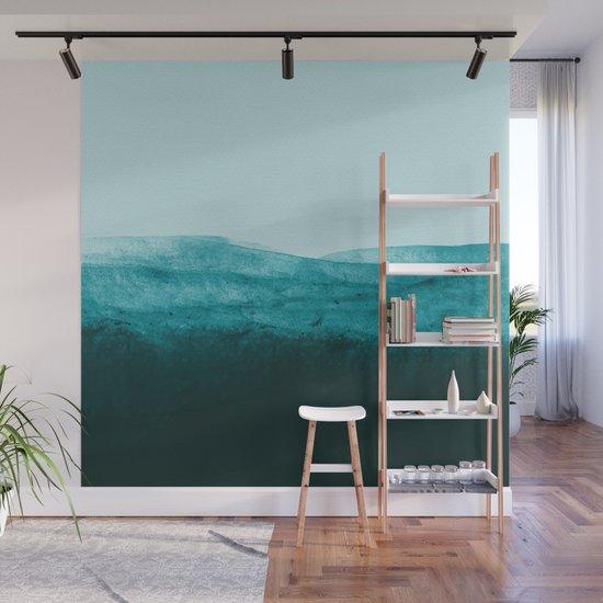 Aqua Watercolor Tide by floresimagespdx