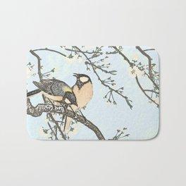 Birds and blossoms Bath Mat