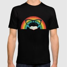 Brainbow Mens Fitted Tee MEDIUM Black