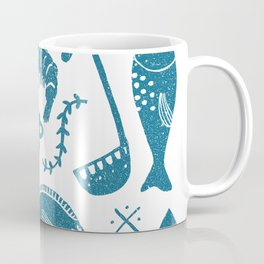 Fish supper textured print pattern Coffee Mug