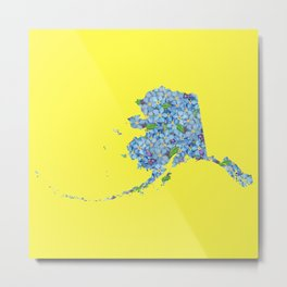Alaska in Flowers Metal Print