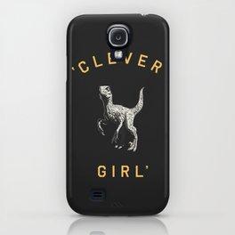 Clever Girl (Dark) iPhone Case