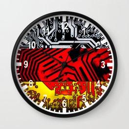 circuit board germany (Flag) Wall Clock