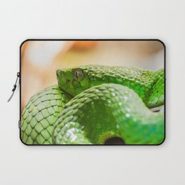 Coiled green snake Laptop Sleeve