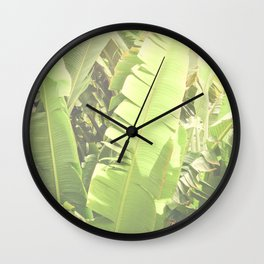Tropical Banana - Green Wall Clock