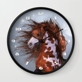 Native Horse Wall Clock