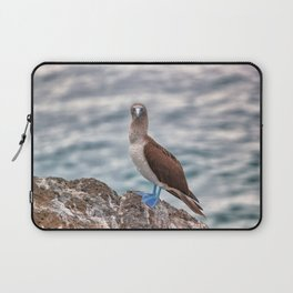 Galapagos blue footed booby bird photography Laptop Sleeve