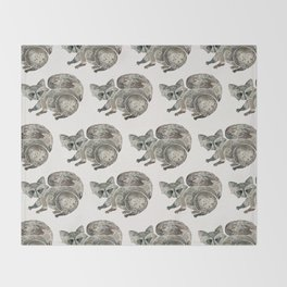 Raccoon – Warm Grey Palette Throw Blanket