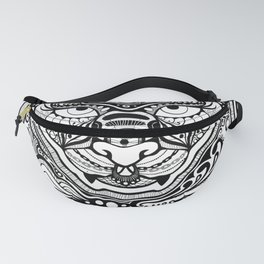Blackwork Queen Cat Face Fanny Pack