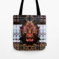 animal crew Tote Bags featuring Animal by Zandonai