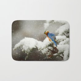 Winter Bluebird Bath Mat