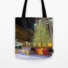 New York - Rockerfella Christmas Tree Tote Bag