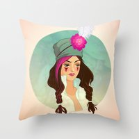 bohemian Throw Pillows featuring Bohemian by Kit Seaton