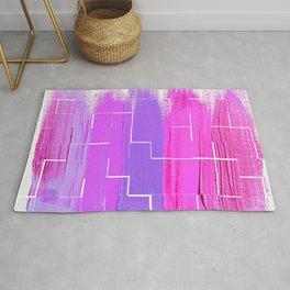 Purple Palette, Pastels, Pinks, Purples, Hues Rug