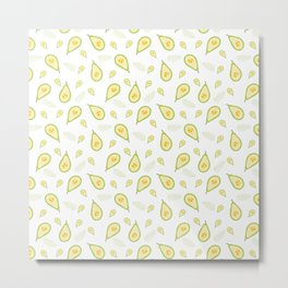 pattern with pears Metal Print