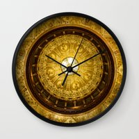 college Wall Clocks featuring Flagler College by MucklowArt