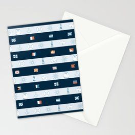 Nautical Theme Design Stationery Cards