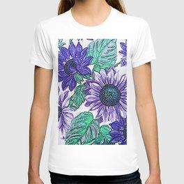 Large Purple Flowers T-shirt