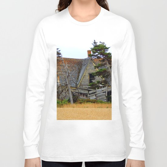 Abandoned Collapsing Homestead Long Sleeve T-shirt