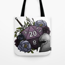 Fighter Class D20 - Tabletop Gaming Dice Tote Bag