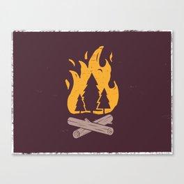 Campfire Night Canvas Print