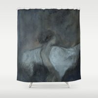 imagerybydianna Shower Curtains featuring morphē by Imagery by dianna