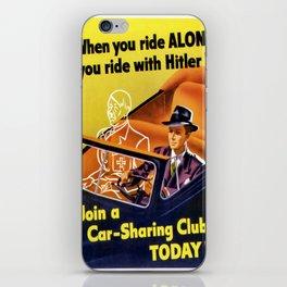 Vintage poster - Car-Sharing Club iPhone Skin