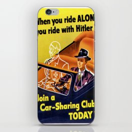 Vintage poster - Car-Sharing Club iPhone Skin