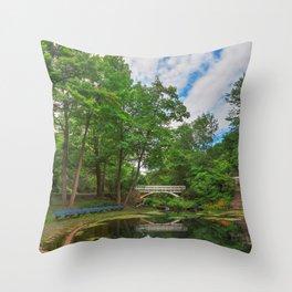Jean-Drapeau Arch Pond Throw Pillow