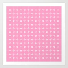 Sakura Card Captors Pattern Art Print