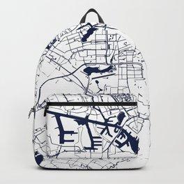 Amsterdam White on Navy Street Map Backpack