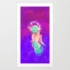 The Alien Goddess Art Print