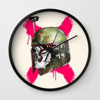 boba Wall Clocks featuring Boba Fett by efan