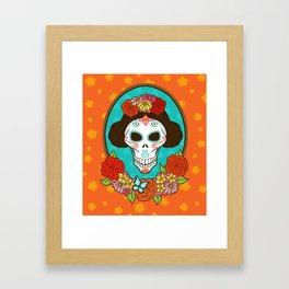 Day of the Dead Beauty Framed Art Print