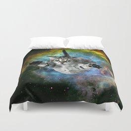 Galaxy Cat Universe Kitten Launch                                                 Duvet Cover