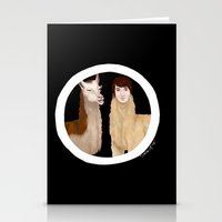 danisnotonfire Stationery Cards featuring Danisnotonfire Llama by Khrow