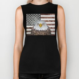 American Bald Eagle Patriot Biker Tank