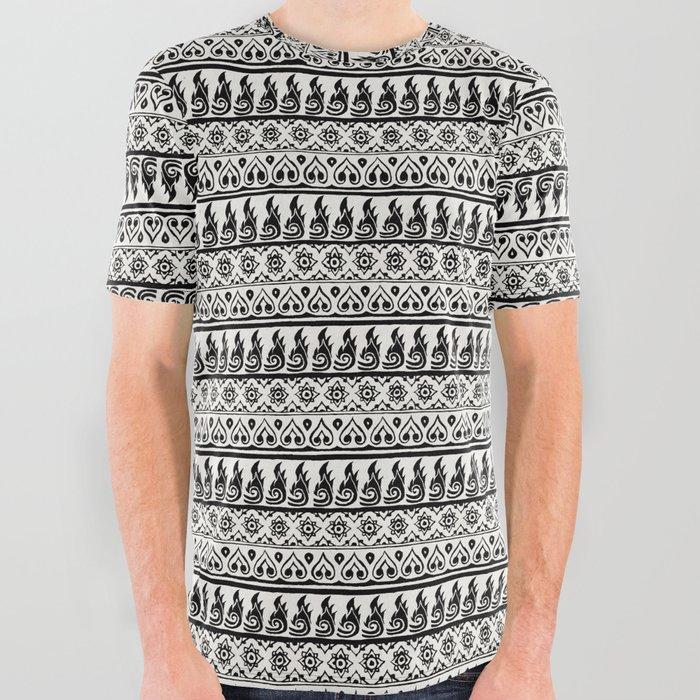 Thai Fabric Patterns Black And White