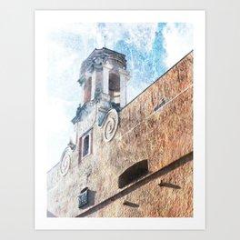 Palais des Gouverneurs - Bastia Art Print