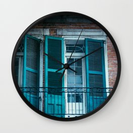 French Quarter Blues, No. 1 Wall Clock