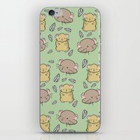 hamster iPhone & iPod Skins featuring Hamster Pattern by Noreen Torelli