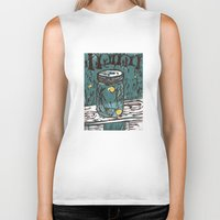 fireflies Biker Tanks featuring Catching Fireflies by Heather Powers